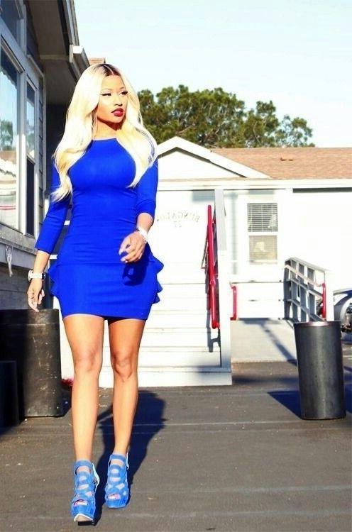 Nicki Minaj Cobalt Blue Outfit