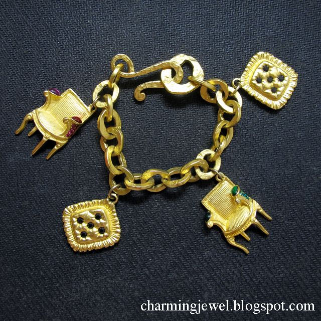 Karl Lagerfeld fashion charm bracelet that was hugely popular more than 20 years ago. Chanel popularized this trend.