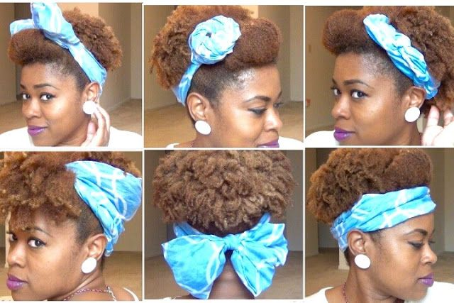 Cute Scarf Updos for Natural Hair! http://www.curlynikki.com/2015/12/cute-scarf-updos-for-natural-hair.html #hairstyles