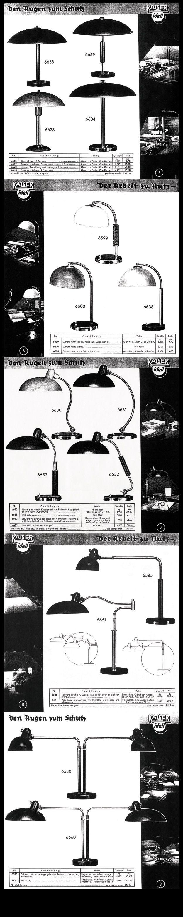 Rare Kaiser & Co. Work Lamp Catalogue 1936 - Pages 5 to 9 #KaiserIdell #Kaiser_Idell #ChristianDell #Bauhaus #Modernism #Modernist #Molecula