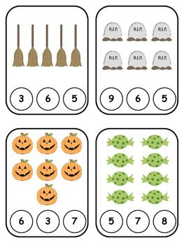 Halloween Clothespin Counting 1-10 {FREEBIE}