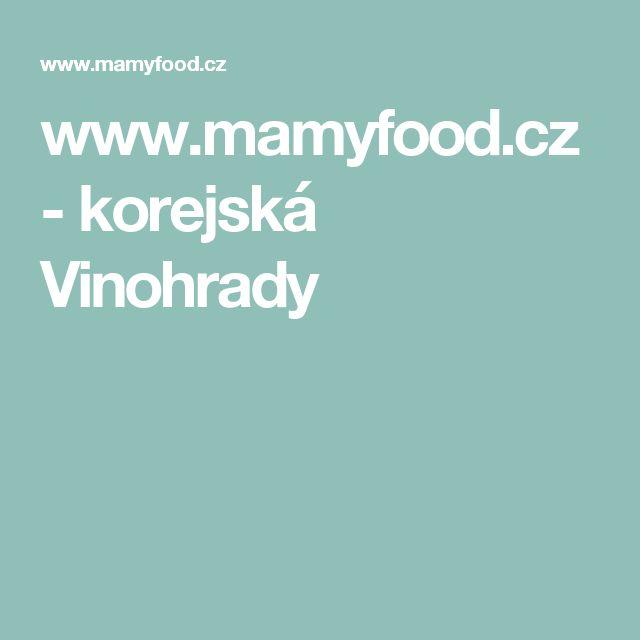 www.mamyfood.cz - korejská Vinohrady