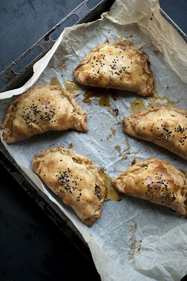 butternut squash and goat cheese pasties