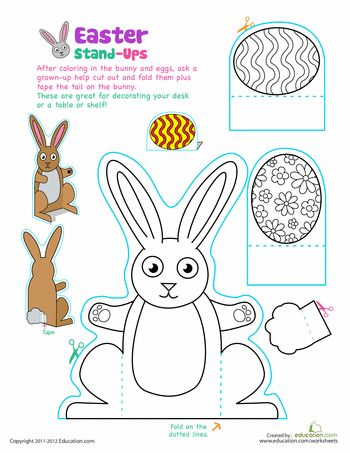 Worksheets: Easter Bunny Stand-Ups
