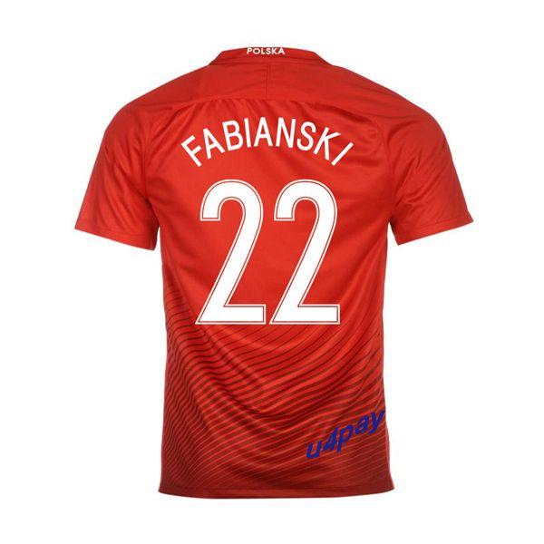 Lukasz Fabianski 22 2016 Poland Jersey UEFA Euro Away Soccer Jersey 2016/17 Poland Soccer Jerseys