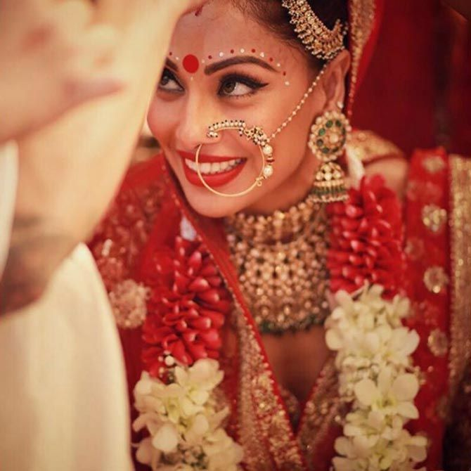 Bipasha Basu tied the knot with Karan Singh Grover in a private ceremony in Mumbai. #Bollywood #Fashion #Style #Beauty #Hot #Wedding