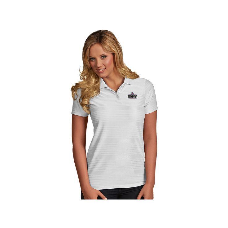 Women's Antigua Los Angeles Clippers Illusion Polo, Size: Medium, White
