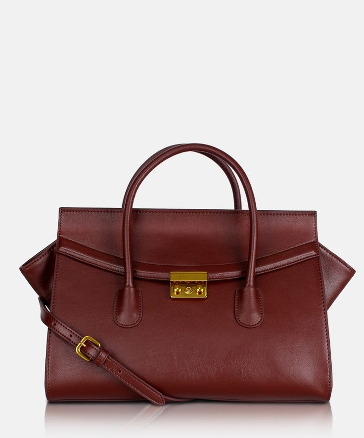 Bag GA Marcato D 13G 0432 Red Wine. Women's leather handbag by Giorgio Agnelli
