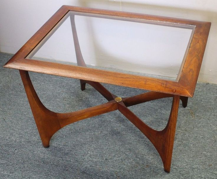 Vintage Mid Century Modern Lane Walnut Glass Top Coffee Table Adrian  Pearsall - 25+ Best Ideas About Glass Top Coffee Table On Pinterest Wood