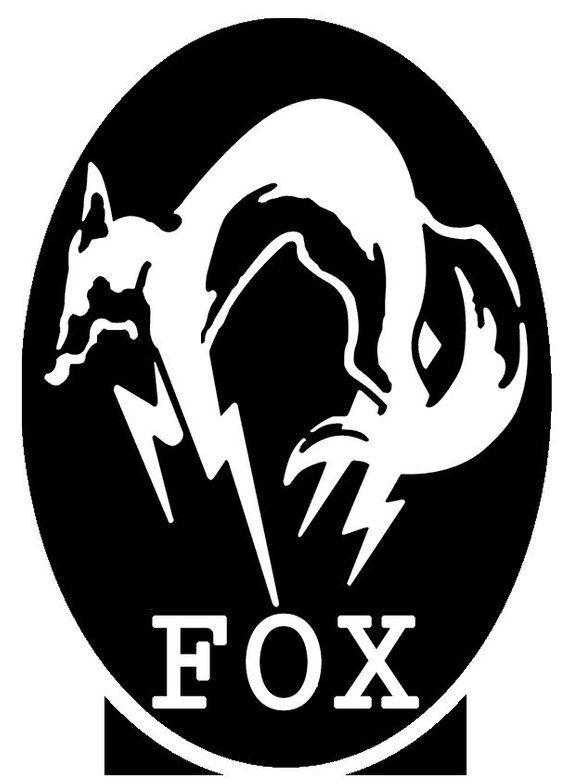 Metal Gear Solid Fox Vinyl Sticker Decal By Shewolfmedia Metal Gear Solid Gear Tattoo Metal Gear