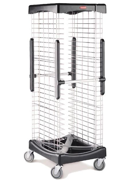 Scale for serving trays: This ProServe Pan Rack System is easy to use