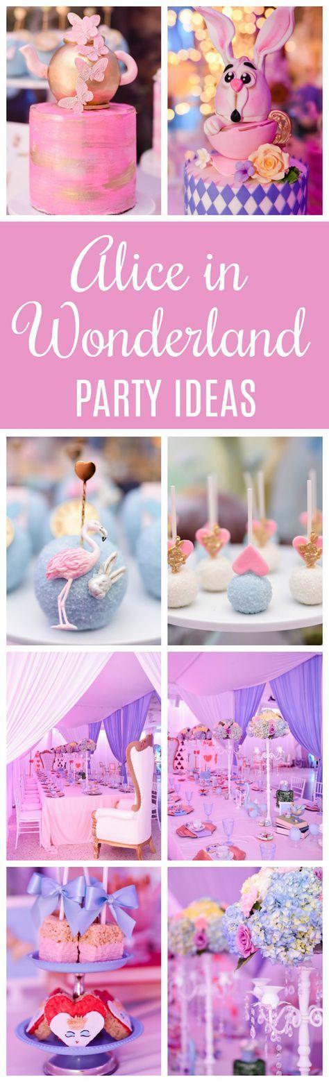 Modern Alice in Wonderland First Birthday Party on Pretty My Party
