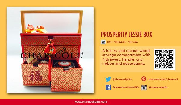 PROSPERITY JESSIE BOX | Celebrate the Chinese New Year! Share the proesperity and happiness | Order now : www.charncollgiftS.com | 021-7509476 / 021-7197234 #ChineseNewYearGifts #ChineseNewYear