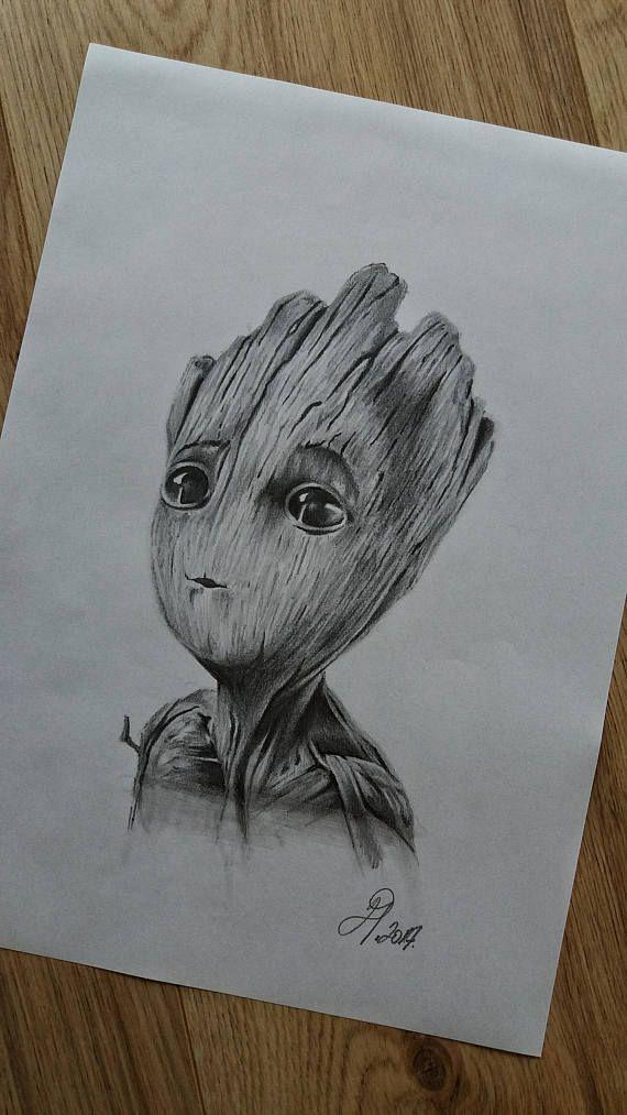 Baby Groot drawing www.instagram.com/drart82 #arts…