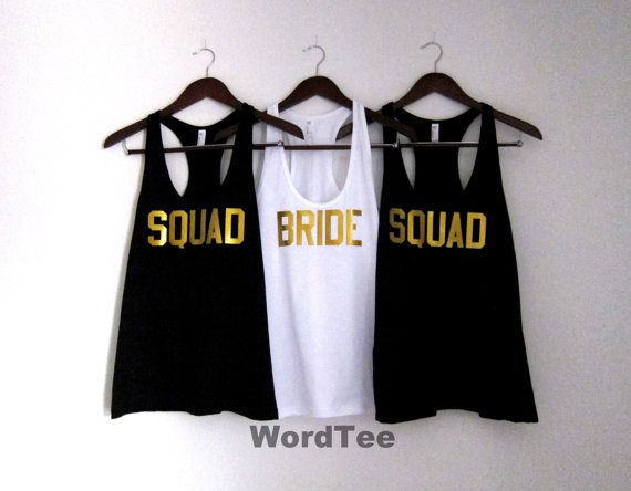 Bride Squad Bachelorette Party Shirts American Apparel by WordTee