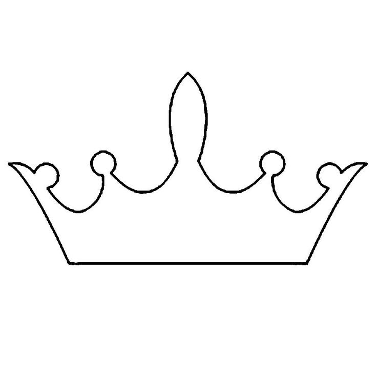 Трафарет короны из бумаги своими руками