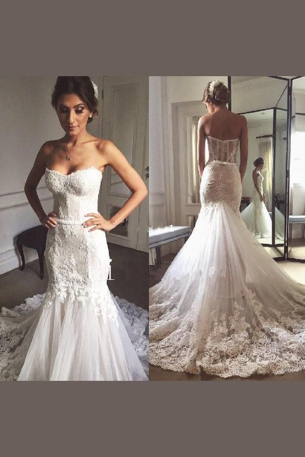 691c3575be5c Mermaid Wedding Dress, Wedding Dress Lace, Wedding Dress Sexy, Ivory Wedding  Dress, Wedding Dress Vintage #IvoryWeddingDress #WeddingDressLace ...
