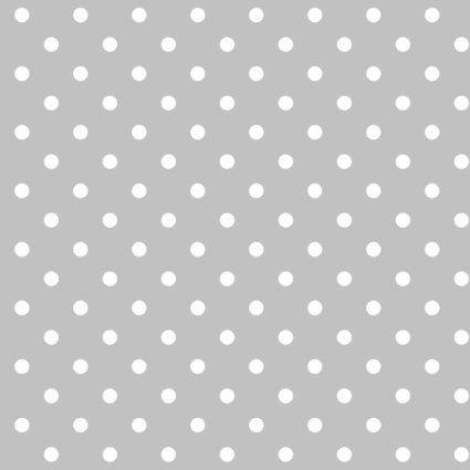 Erstklassiger Baumwollstoff, 100% Baumwolle, modische Muster, Breite 160cm - Getupft 4mm grau: Amazon.de: Küche & Haushalt