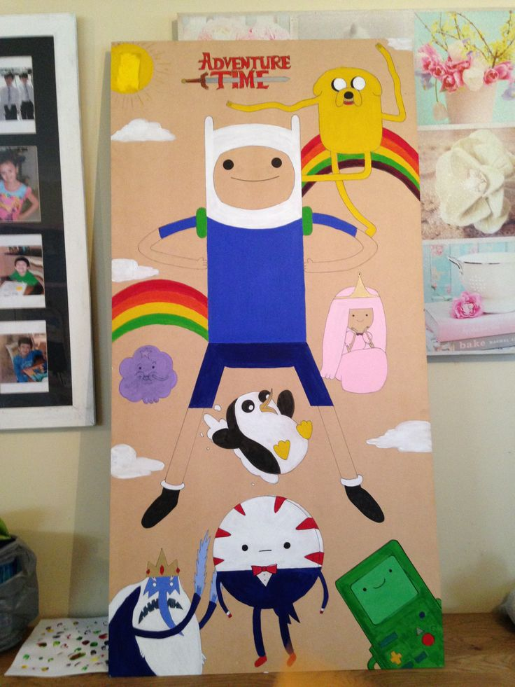 Adventure Time board I painted!