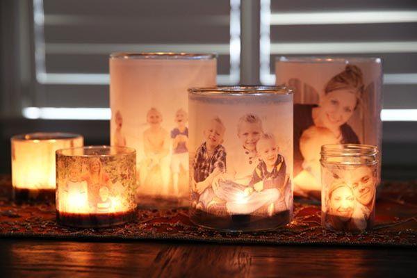 DIY nápad a návod krok za krokom na Žiariace rodinné fotografie, ktoré si jednoducho vyrobíte sami doma. Postup, handmade, urob si sám, tutoriál, fotky