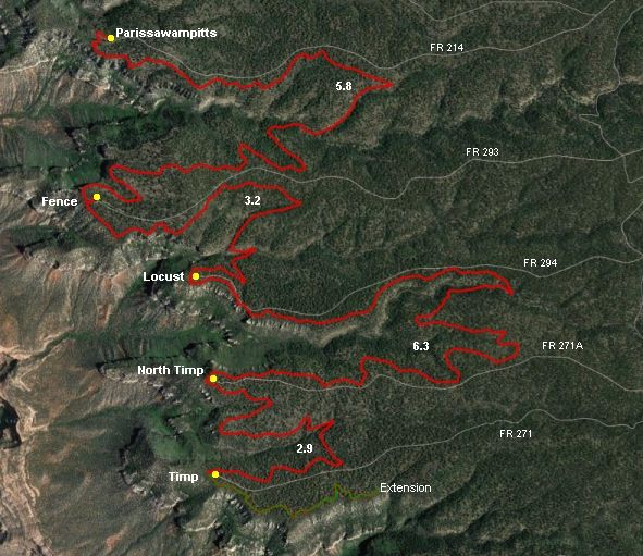 GPX for Rainbow Rim Trail #10 in the Grand Canyon of Arizona