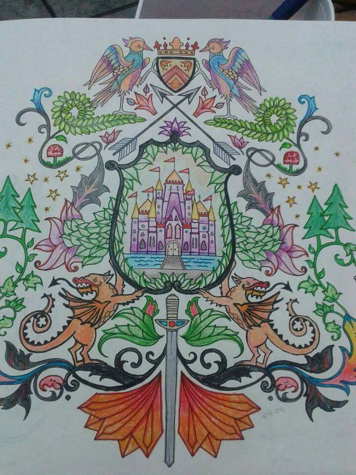 Floresta Encantada Brasao Castelo Johanna Basford