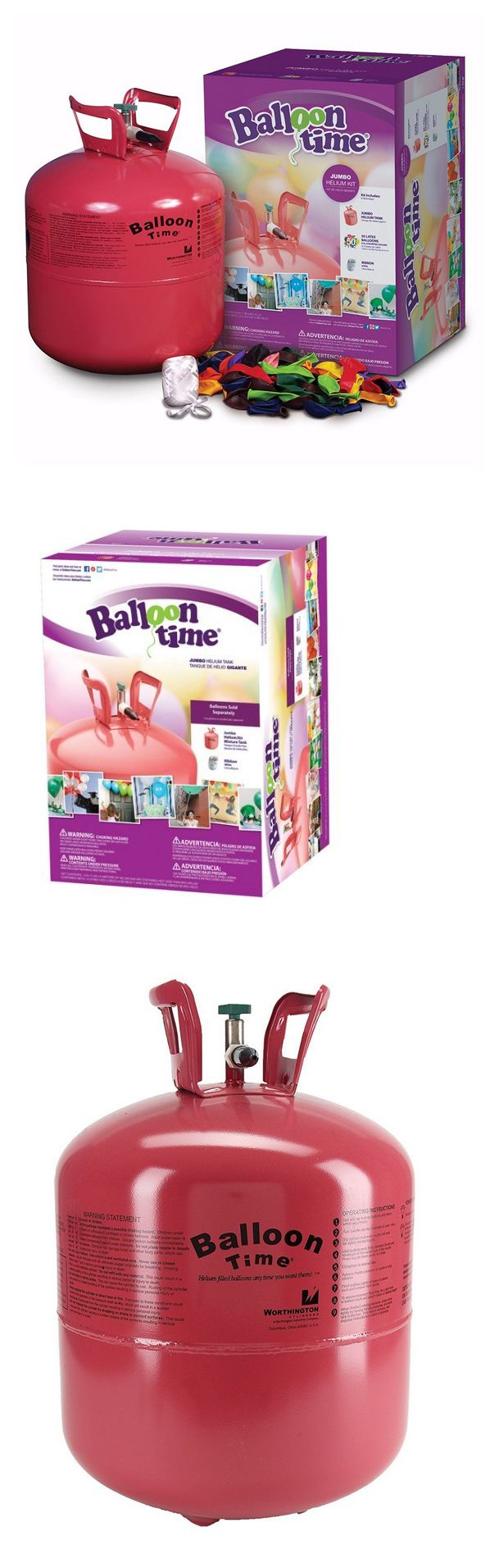 Balloons 26384: Balloon Time Disposable Jumbo Helium Tank, 50 Balloons Included Great Quality -> BUY IT NOW ONLY: $47.99 on eBay!