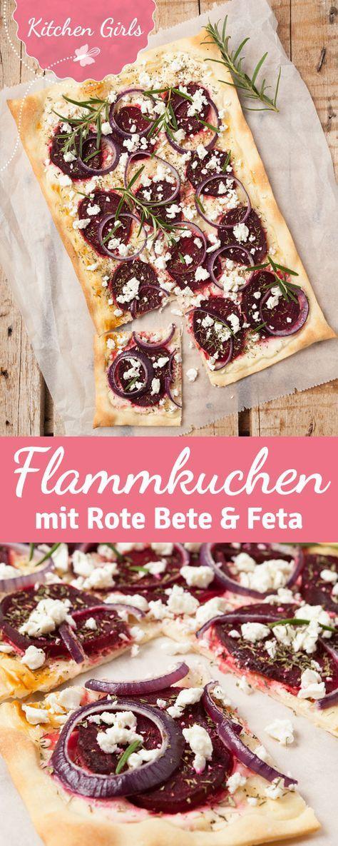 Flammkuchen mit Feta und Rote Bete