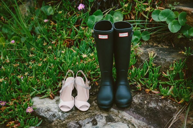 Hunter gumboot, wet weather wedding. Image: Cavanagh Photography http://cavanaghphotography.com.au/