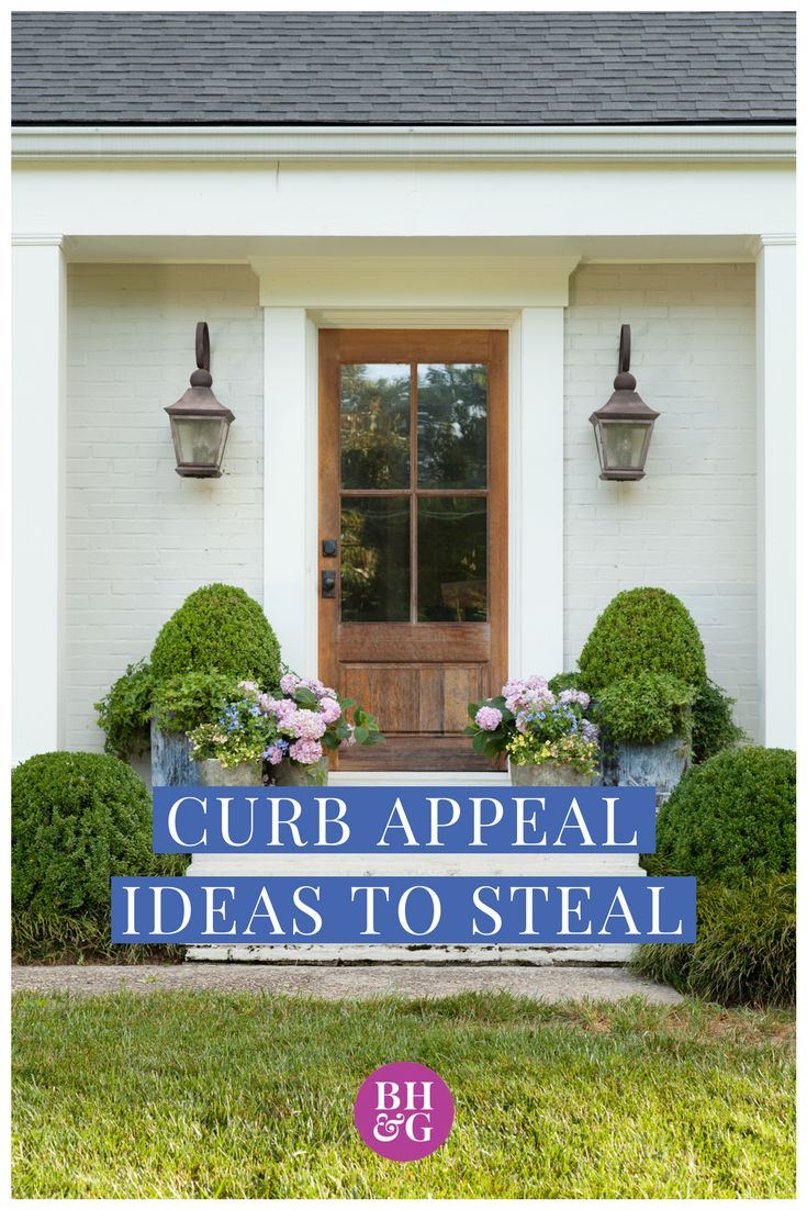 Get inspired to make the exterior of your home look chic and inviting. These curb appeal ideas will make your home look the best on the block with charming style and beautiful elegance. #curbappeal #homeimprovement #landscaping