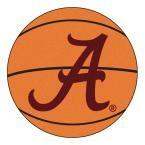 Ncaa University of Alabama Crimson A Logo Orange 2 ft. 3 in. x 2 ft. 3 in. Round Accent Rug