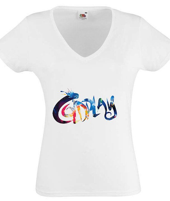 COLDPLAY 1 TShirt Womens White Fruit Of The Loom by ShirtsofBety, €10.49