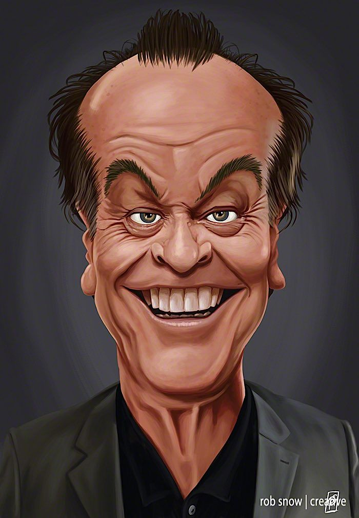 Celebrity Caricatures by Rob Snow - Jack Nicholson