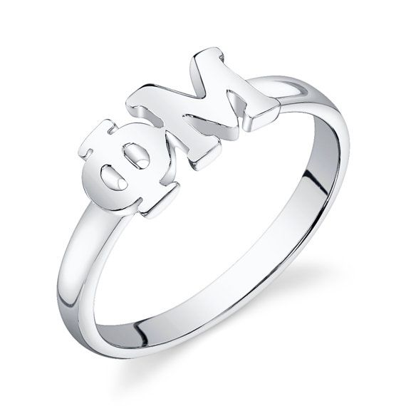 Sterling Silver Phi Mu Letter Ring much smaller alternative to what I have now