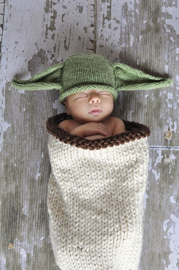 Too adorable! https://www.etsy.com/listing/155281945/baby-yoda-hat-baby-star-wars-newborn