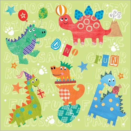 Dino fun.  AU$4.20 / NZ$4.60 each  or 10 or more (assorted) cards for AU$3.50 / NZ$4.00