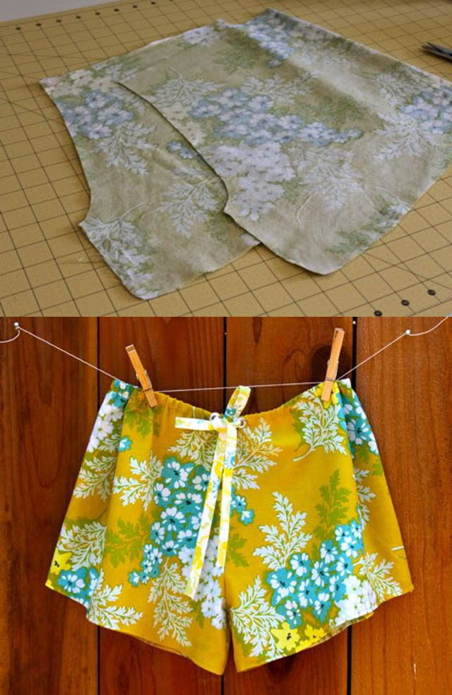 DIY/TUTORIAL...really CUTE: SLEEP SHORTS...this is a GREAT project for a…