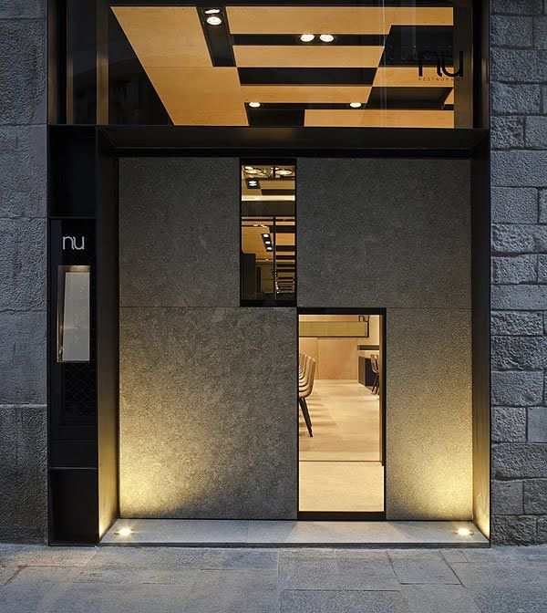 Francesc rif viste de piedra natural el restaurante nu de - Fachadas de locales comerciales ...