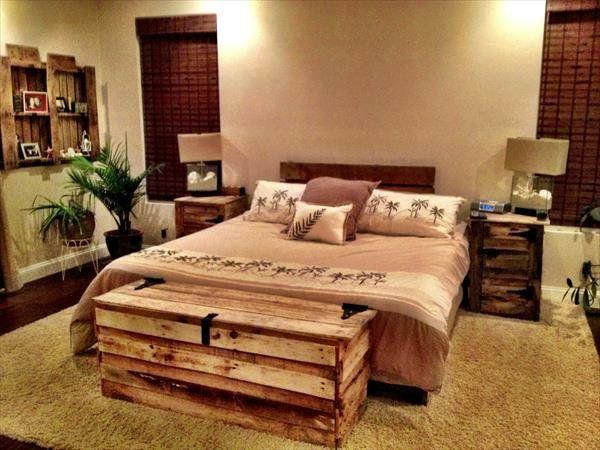 bettgestell rahmen Holzmöbel aus Paletten