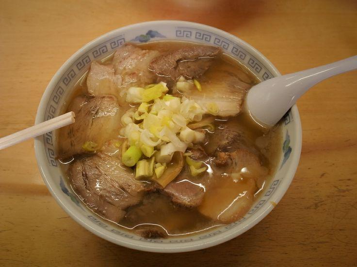 """喜多方ラーメン【松食堂】(""""KITAKATA-ramen"""", a famous and wonderful Chinese-stile noodles, Kitakata, Fukushima, JAPAN)"""