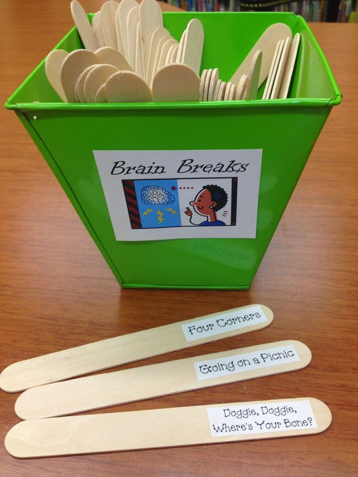 Here's a post on Brain Breaks for primary grade students from Learning Adventures with Mrs. Gerlach.  It includes a super (and FREE) download--50 ideas for brain breaks with labels if you want to use the pull-a-stick method of choosing the activities!