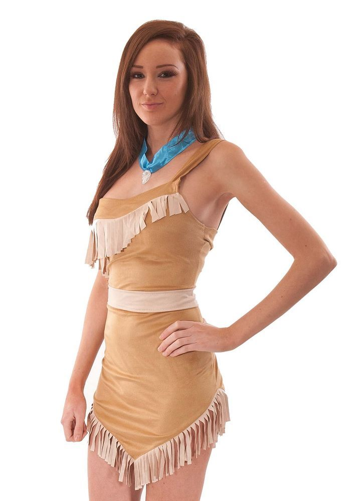 LADIES SEXY POCAHONTAS INDIAN PRINCESS HALLOWEEN FANCY DRESS COSTUME CHEAP 8-10 in Clothes, Shoes & Accessories, Fancy Dress & Period Costume, Fancy Dress | eBay
