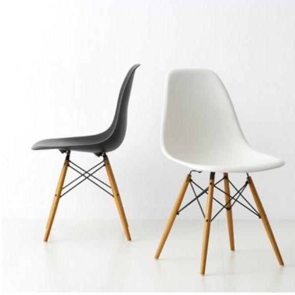 Replica Eames Side chair, 70 euro. Nog afstemmen hoeveel kwaliteit we zoeken.