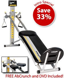 The Total Gym FIT lets you do more than 85 exercises on one home gym machine.
