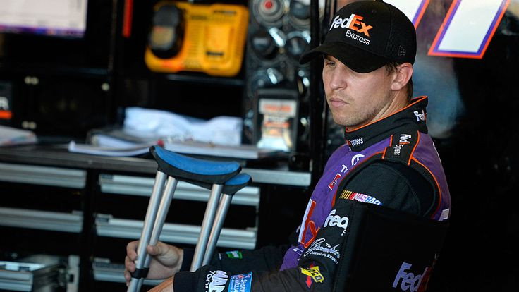 NASCAR starting lineup at Charlotte: Denny Hamlin on pole, JGR teammate Matt Kenseth on front row - Sporting News