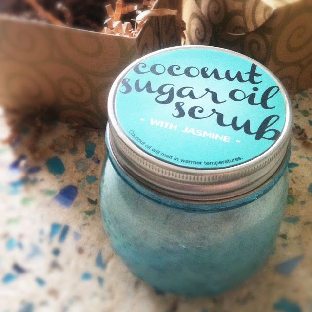 DIY coconut sugar scrub -- Might be a cute gift to make a lot of little jars of this for their feet for Recruitment!!!!