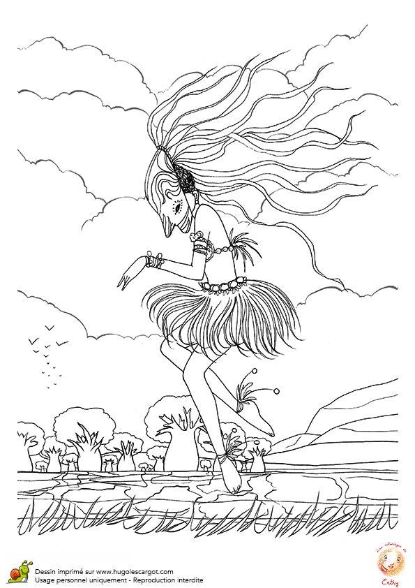 Page 1 Sur 11 Sur Hugolescargot Com Coloriage Afrique Danses Du Monde