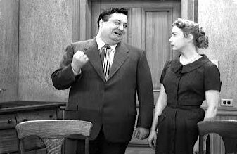 The Honeymooners (TV Series 1955-1956) - Ralph Kramden showing affection for Alice.