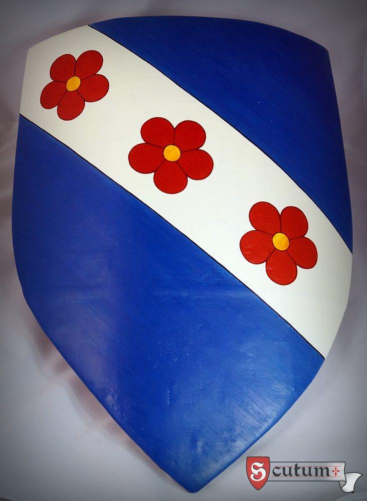 Old polish coat of arms - doliwa. Historical egg tempera on traditional chalk-glue underlay.
