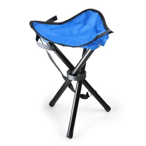 Sedia da campeggio mobile blu nera 500g